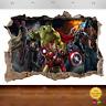 Marvel Avengers Super Heros Hulk 3d Smashed Wall View Sticker Poster Vinyl 662