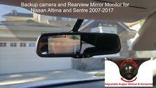 "Backup Camera & Rear View Mirror Monitor 4.3"" for 2007-17 Nissan Altima, Sentra"