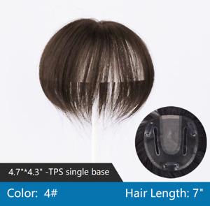 "100% natural remy human hair U-part headtop hair loss topper hairpiece wiglet 7"""