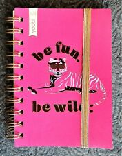 """""""Be Fun Be Wild"""" Tiger Pink Mini Spiral Notebook 120 Ruled Pages ~4"""" x 6"""" Yoobi"""