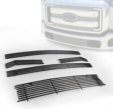 2011-13 FORD SUPER DUTY F250 F350 UPPER+BUMPER BILLET GRILLE GRILL INSERT COMBO