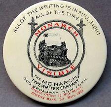 c.1910 MONARCH VISIBLE TYPEWRITER Boston advertising celluloid pocket mirror *