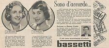 W1758 BASSETTI - Maria Ciprani di Roma - Pubblicità del 1958 - Vintage advert