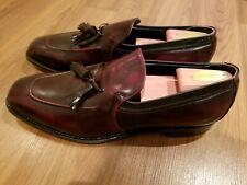 "NWOB Vintage Johnston & Murphy ""Aristocraft"", burgundy tassel loafer,  11.5 C"