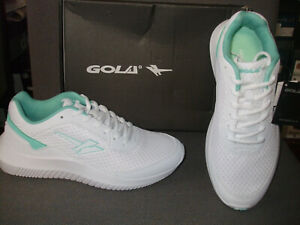 GOLA  WOMENS  WEXFORD WHITE / SEA MIST LACED TRAINERS. SIZE 7