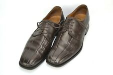 Brass Boot Leather Double Bicycle Toe Derby Shoes Mens Size 12 M Brown Italy