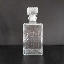 Carafe liqueur en verre vintage art-déco