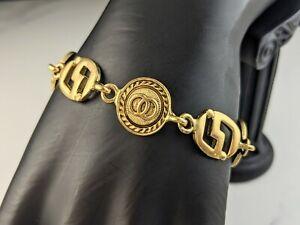 Lovely Vintage Jewellery Gold-tone Geometric Design Link Bracelet