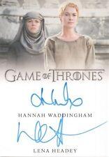 Game of Thrones Complete Series, Lena Headey / Waddingham Dual Autograph Card