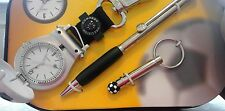gift set new old stock Colibri soccer watch key ring pen