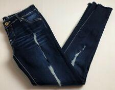 Fil Jean's Women's Skinny Jeans Juniors Sz 9 Dark Wash Distressed Ripped Stretch