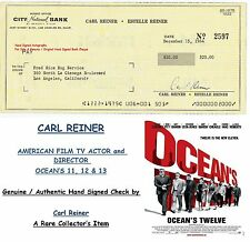 CARL REINER FILM STAR ACTOR PRODUCER  GENUINE HAND SIGNED BANK CHEQUE RARE  ITEM