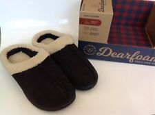 New Dearfoams Genuine Suede Beautiful Soft Black Slippers - US 9-10 Women