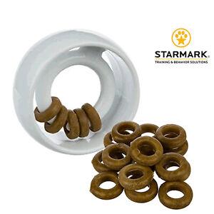 Starmark Dog Enrichment Treat Ringer Orb Durable Nylon Chew Rings Boredom Tough