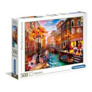 puzzle Clementoni 500 pezzi SUNSET OVER VENICE HQC High Quality 35063 + OMAGGIO