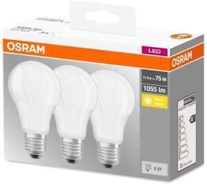 Osram Lampadine LED 10.5W Attacco E27 Luce Calda 2700K Confezione da 3
