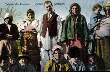 Postcard Pk Sw Romanian Family Artistic Card Field post 1918