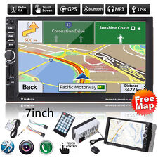 "7""HD 2DIN In Dash Bluetooth Touch Car Stereo Radio MP3 Player GPS Nav FM/USB+Map"