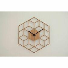 Hexagon Wall Clock Advanced European Minimalist Artistic Silent Clocks Cafe Home