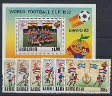Liberia 1187/92 Block 96 postfrisch / Fußball ..................................