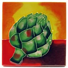 """Artichoke"" 4x4 Home Kitchen Decor Art Tile Coaster / Wall / Trivet / Tabletop"