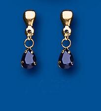 Unique Wishlist 9ct Yellow Gold Small Sapphire Pear Drops *AP0320