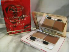 """Clarins Eye Color/Shadow Duo.""""Natural/Clay&#0 34;.Maquillage Multi Soin. 02825. 25."""