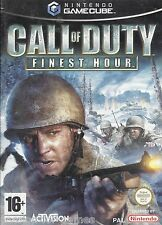 CALL OF DUTY FINEST HOUR for Nintendo Gamecube - with box & manual