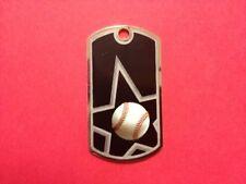"Heavy Duty Dog Tag with 30"" Chain. Baseball Football Soccer Baseball - ENGRAVED"