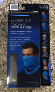 NEW MISSION COOLING NECK GAITER-Charcoal-Makes A Great Face Mask!
