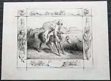 1830 Joseph Lemercier Large Antique Print of North African Bedouin Hunters