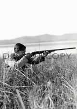ANTIQUE DUCK HUNTING REPRO 8X10 PHOTO ACTOR CLARK GABLE PARKER BROS SHOTGUN