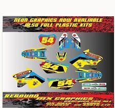 Suzuki RM H. 65 85 125 250 450 Kit De Gráficos Kit de Pegatinas Calcomanías Azul Amarillo