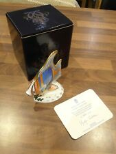 Royal Crown Derby Paperweight with Box . Pacific Angel Fish LTD edition