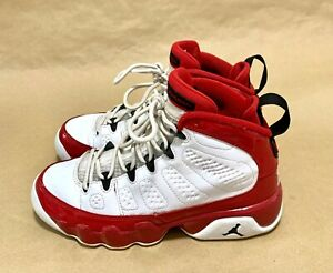 Jordan 9 Retro White Gym Red (GS) Size 5Y [Pre-Owned]-[No OG Box]-[302359-160]