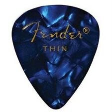 12 Fender 351 Premium Celluloid Picks - Blue Moto, Thin