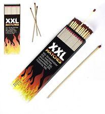 XXL Matches Wooden Sticks Safety Fire Lighter Wood Burner BBQ Box 20cm Long 40pc