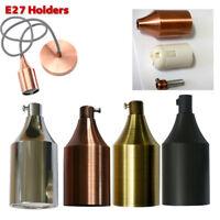 E27 Edison Retro Vintage Style Pendant Lamp Light Holder Bulb Screw Socket-UK