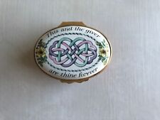 Bilston & Battersea Halcyon enamel box - This & the Giver are Thine Forever