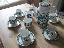ANTIQUE MIDWINTER SET JESSIE TAIT SPANISH GARDEN TEA COFFEE ESPRESSO TEAPOT CUPS