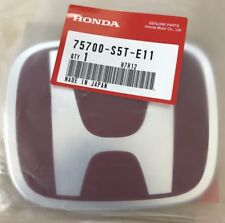 GENUINE JDM FD2 HONDA FRONT RED EMBLEM 04-05 CIVIC OEM TYPE R NEW 75700-S5T-E11