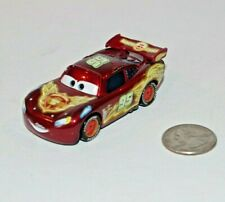 Disney Pixar Cars Lightning McQueen Neon Racers Diecast Metal 1:55 EUC Flash
