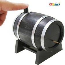 Creative Wine Barrel Style Automatic Toothpick Box Container Dispenser Holder