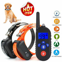 330 Yards Remote Electric Dog Shock Training Collar Waterproof Rechargeable LCD