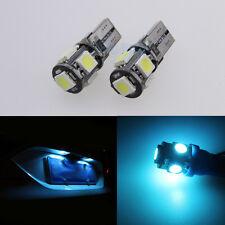 2Pcs Ice Blue LED Number/License Plate Lights Bulbs For Astra H 2005 - 2010 VXR