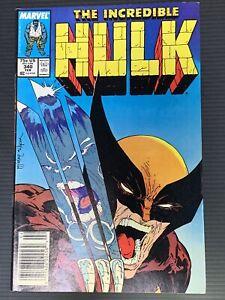 INCREDIBLE HULK #340 - Hulk Vs Wolverine! KEY ISSUE - HIGH GRADE - SEE PICS