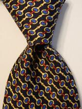 BROOKS BROTHERS Makers Men's 100% Silk Necktie Designer EQUESTRIAN Blue/Red NWT