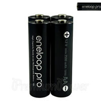 4 x Panasonic Eneloop PRO AA batteries Rechargeable 2500mAh Ni-MH High capacity
