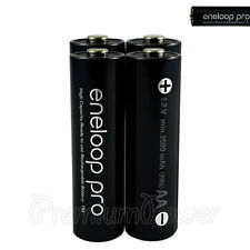 4 x Panasonic Eneloop PRO AA batteries Rechargeable 2500mAh Ni-MH High capacity