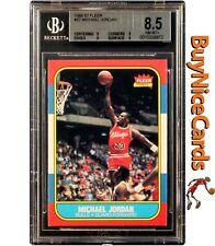 1986-87 Michael Jordan Fleer RC Rookie #57 BGS 8.5 - .5 Away From BGS 9